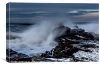 Crashing waves , Canvas Print
