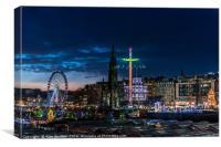Christmas in Edinburgh , Canvas Print