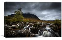 River Coupall and Buachaille Etive Mor, Canvas Print