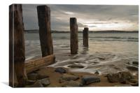 Estuary near Bideford North Devon, Canvas Print