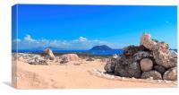 Lobos Island and Lanzarote from Fuerteventura, Canvas Print