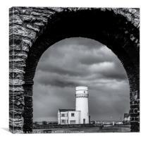 Hunstanton Lighthouse through St Edmonds Chapel , Canvas Print