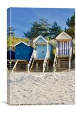 "Beach Huts ""Sand in My Shoes"" Wells-Next-The-Sea, Canvas Print"