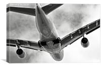 Mighty Emirates A380 Glides into the distance.., Canvas Print