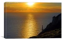 Beachy Head Sunset., Canvas Print