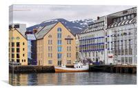 Alesund harbour, Norway., Canvas Print