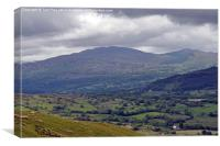 Picturesque Welsh Mountains & Hills., Canvas Print