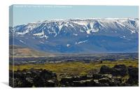Beautiful snow capped Mountains of Iceland., Canvas Print