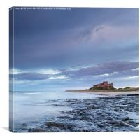 Bamburgh Castle at Dusk, Canvas Print
