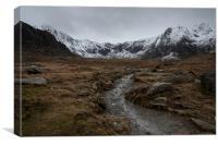 Cwm Idwall, Snowdonia, Canvas Print