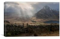 Sunbeams - Tryfan, Canvas Print