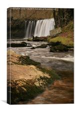 A misty curtain of water falls, Canvas Print