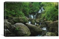 The many falls at Torc waterfall in Ireland, Canvas Print