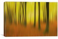 A fall sunrise, Canvas Print