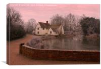 A cosy cottage, Canvas Print
