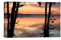Sunrize shiloete, Canvas Print