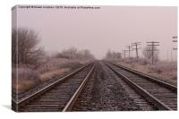Frosty Rails , Canvas Print