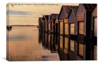Port Rowan lake erie boat houses, Canvas Print