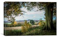 FARINGDON AUTUMN VIEW LANDSCAPE, Canvas Print