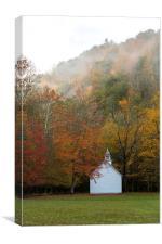 Country Church, Canvas Print