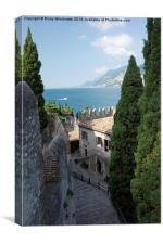 Castle Steps in Malcesine, Canvas Print