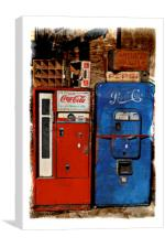 Pepsi vs. Coca Cola, Canvas Print