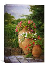In A Portuguese Garden, Canvas Print