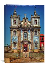 Church Of Saint Ildefonso - Porto , Canvas Print