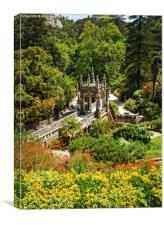 The Gardens of Quinta da Regaleira , Canvas Print