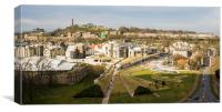 The Scottish Parliament from Salisbury Crags, Canvas Print
