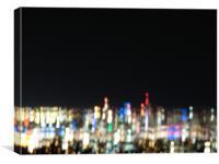 Brisbane at night, Canvas Print