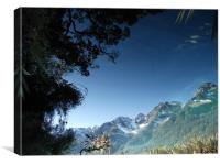 Reflections in water, New Zealand, Canvas Print
