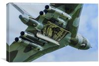 Vulcan XH558 Open Bomb Bay, Canvas Print