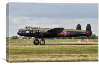 "Avro Lancaster C-GVRA/FM213, the ""Mynarski Lancas, Canvas Print"