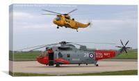 RAF and Royal Navy search and rescue., Canvas Print