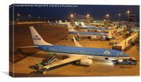 KLM at Schiphol, Canvas Print