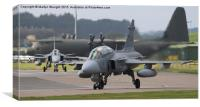 Saab JAS 39 Gripen at RAF Lossiemouth in Scotland, Canvas Print
