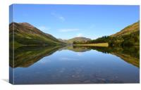 Reflections Crummock water., Canvas Print
