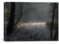 Cold and frosty Morning, Canvas Print