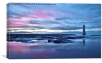 New Brighton Sunset, Wirral, Canvas Print