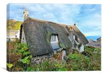 Cadgwith cottages, Canvas Print