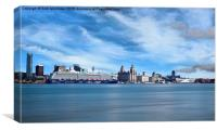 Liverpool in the sun, Canvas Print