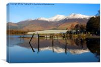 Peaceful Winter Morning At Derwentwater, Canvas Print
