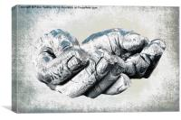 A Safe Pair Of Hands, Canvas Print