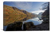 Buttermere Autumn Reflections #1, Canvas Print