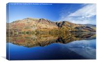 Buttermere Autumn Reflections #2, Canvas Print
