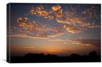Sunset Over Mastihari, Canvas Print