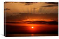 Sunset At Stoupa, Canvas Print