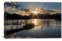 Last Light Over Derwentwater, Canvas Print