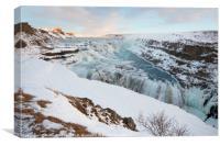 Gullfoss Waterfall, Iceland, Canvas Print